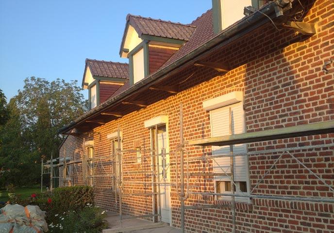 Rénovation de façade à Hazebrouck